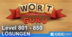 Wort Guru Level 801 bis 850 Lösung – einfache Suche