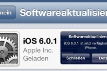 Apple iOS 6.0.1 Update Probleme Download bei iPhone, iPad & iPod