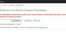 Die hochgeladene Datei konnte nicht nach ..xy.. verschoben werden – WordPress