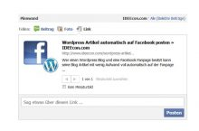 Richtige Foto für Facebook Like Button in WordPress einbinden