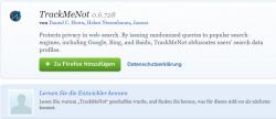 Surfanfragen anonymisieren mit TrackMeNot & Firefox