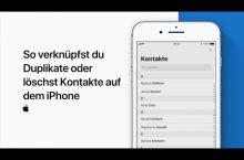 iPhone Doppelte Kontakte verknüpfen oder Duplikate löschen