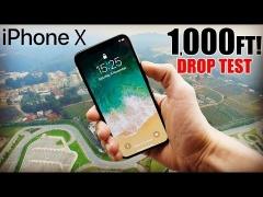 iPhone X fällt aus einer Höhe von 1.000 Fuß
