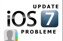 iOS 7 Update: Kontakte weg iPhone, iPad