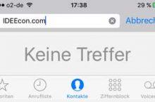 iPhone/iPad Kontakte suchen funktioniert nicht mehr