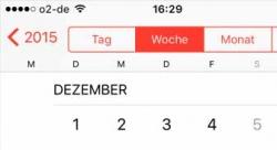iPhone/iPad Kalender wird nicht richtig angezeigt seit iOS 9