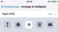 iOS 9.3 Night Shift deaktivieren/aktivieren