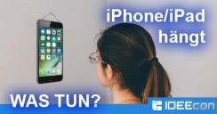iPhone/iPad hängen geblieben – was tun wenn das Gerät hängt?