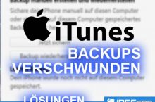 Backups nach iTunes Update verschwunden – was tun?