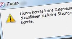 iTunes konnte keine Datensicherung des iPhones durchführen…