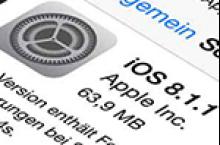 iOS 8.1.1 Probleme