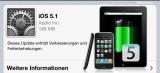 Akku Leistung – iOS 5.1 Update für iPhone & iPad