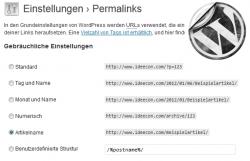WordPress 3.x Permalinks nachträglich ohne Probleme ändern