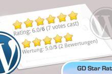 WordPress – GD Star Rating Plugin sprachlich anpassen (deutsch) inkl. Video